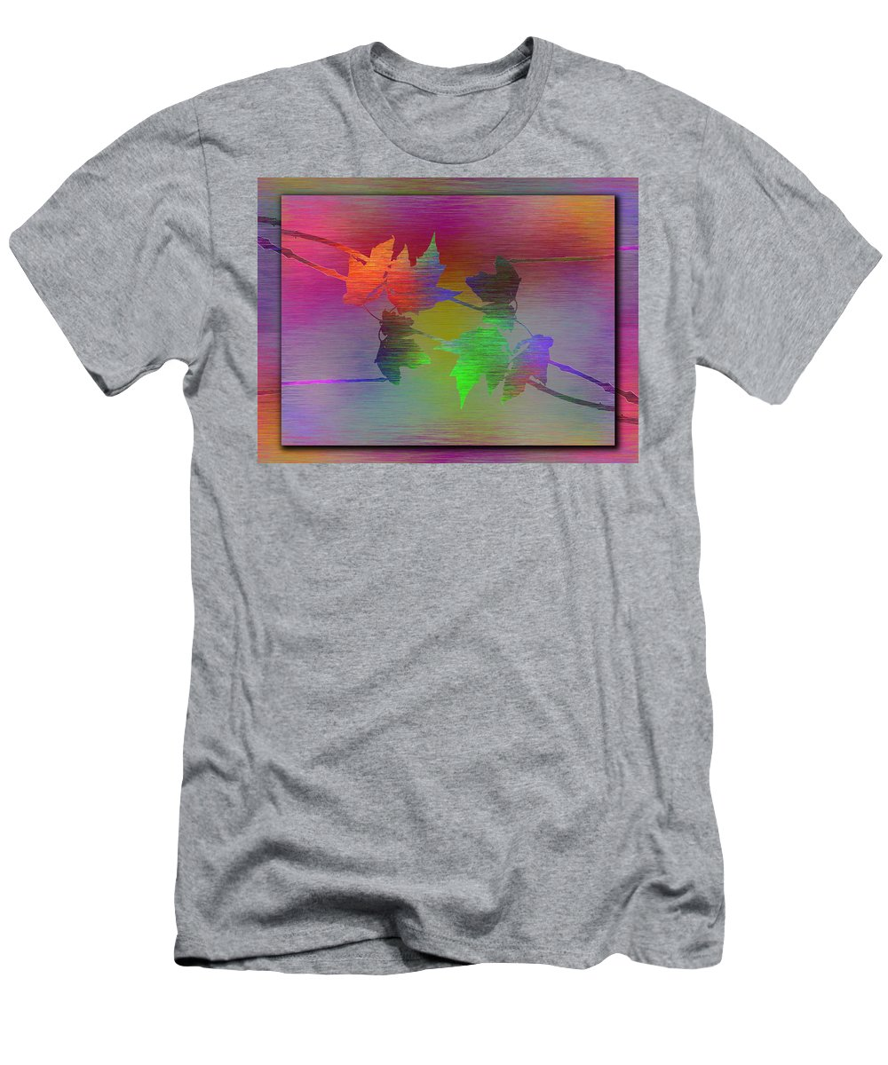 Abstract Men's T-Shirt (Athletic Fit) featuring the digital art Branches In The Mist 55 by Tim Allen