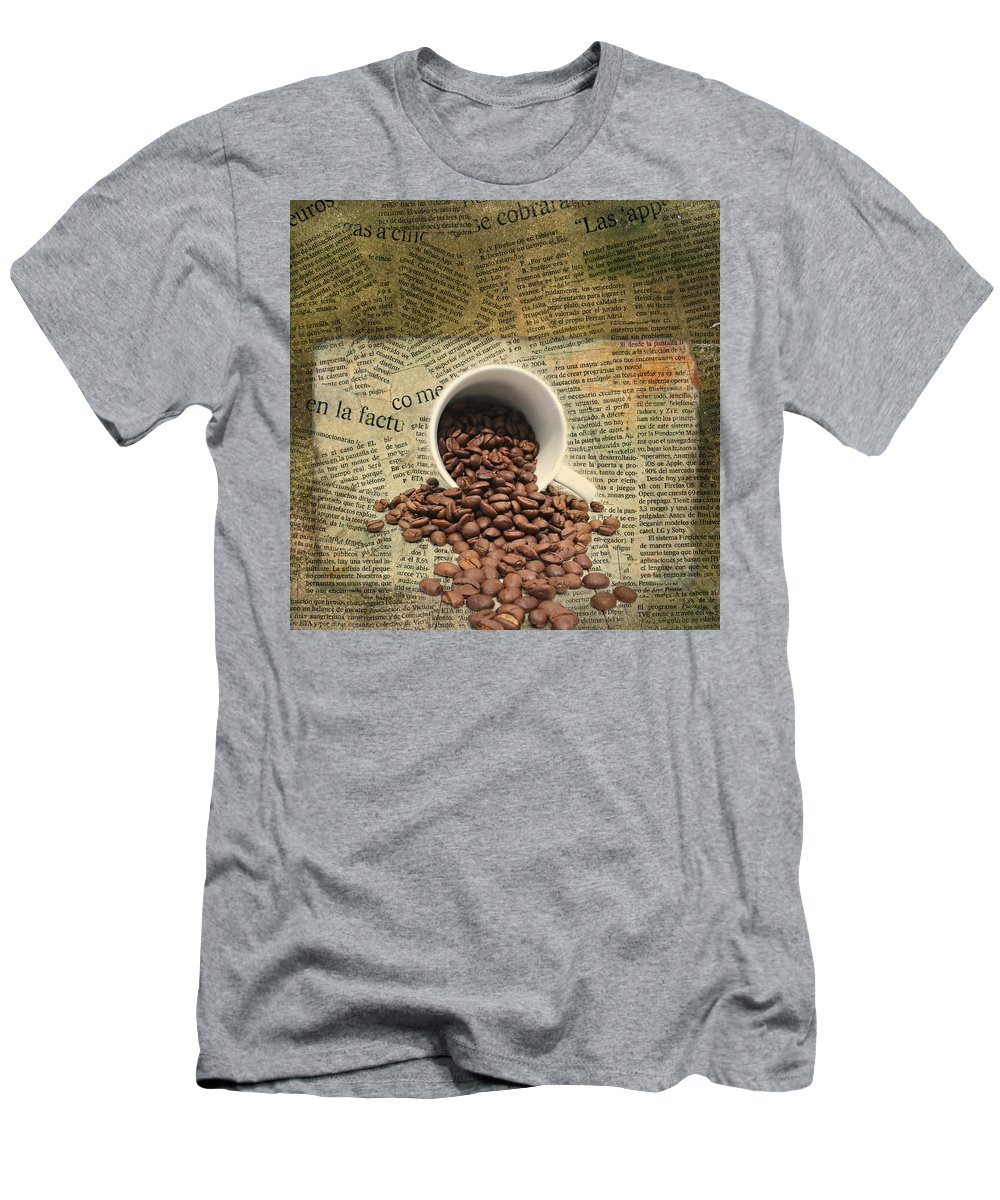 Breakfast Men's T-Shirt (Athletic Fit) featuring the mixed media Breakfast by Heike Hultsch