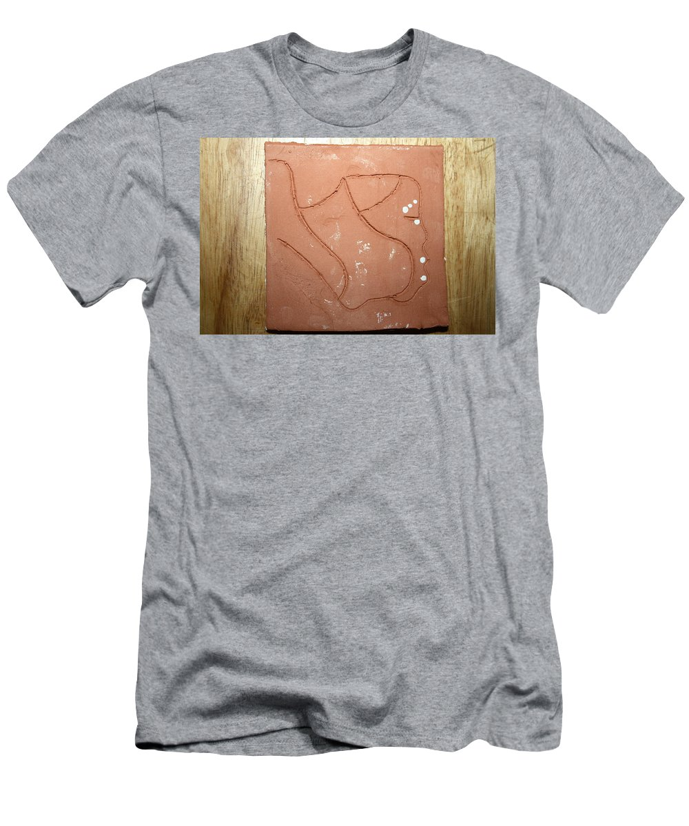 Jesus Men's T-Shirt (Athletic Fit) featuring the ceramic art Breath - Tile by Gloria Ssali