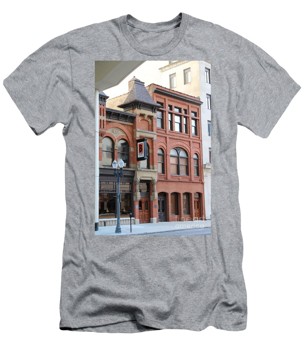 Brick Men's T-Shirt (Athletic Fit) featuring the photograph Brick And Mortar by Stephanie Kripa