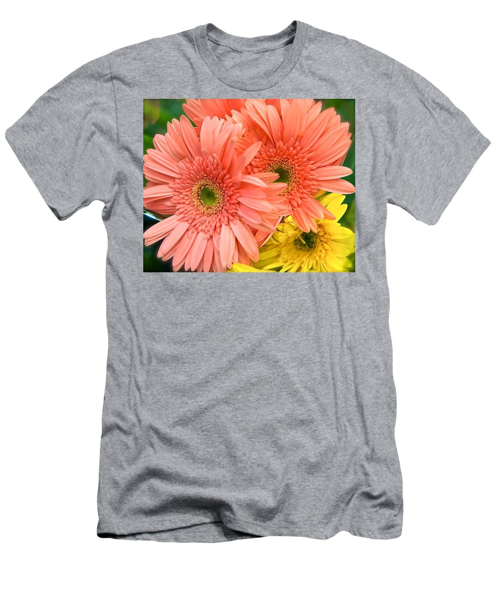 Gerber Daisies Men's T-Shirt (Athletic Fit) featuring the photograph Bringing A Smile by Ira Shander