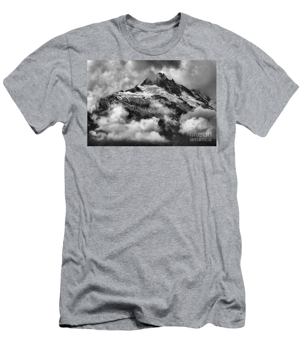 Glacier Mountains Men's T-Shirt (Athletic Fit) featuring the photograph British Columbia Tantalus Mountain Range by Adam Jewell