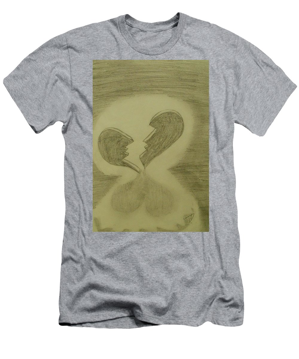 Broken Men's T-Shirt (Athletic Fit) featuring the drawing Broken by Thomasina Durkay