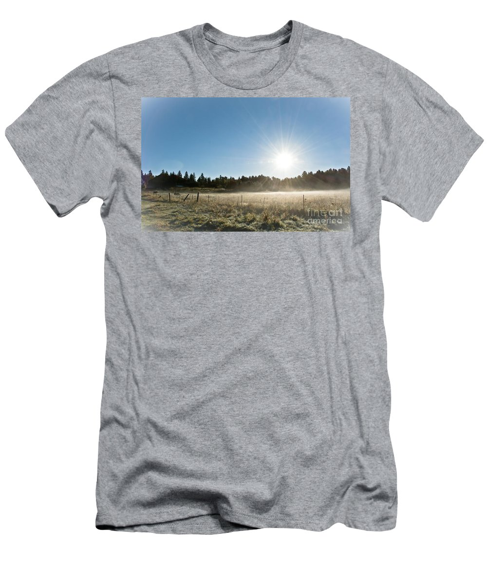 Men's T-Shirt (Athletic Fit) featuring the photograph Burst Of Sunshine by Cheryl Baxter