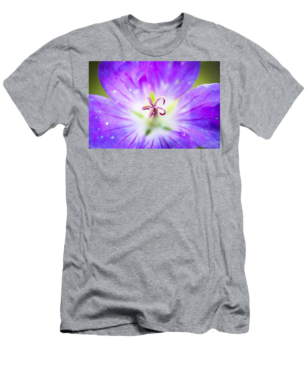 Flower Men's T-Shirt (Athletic Fit) featuring the photograph Burst by Shane Holsclaw