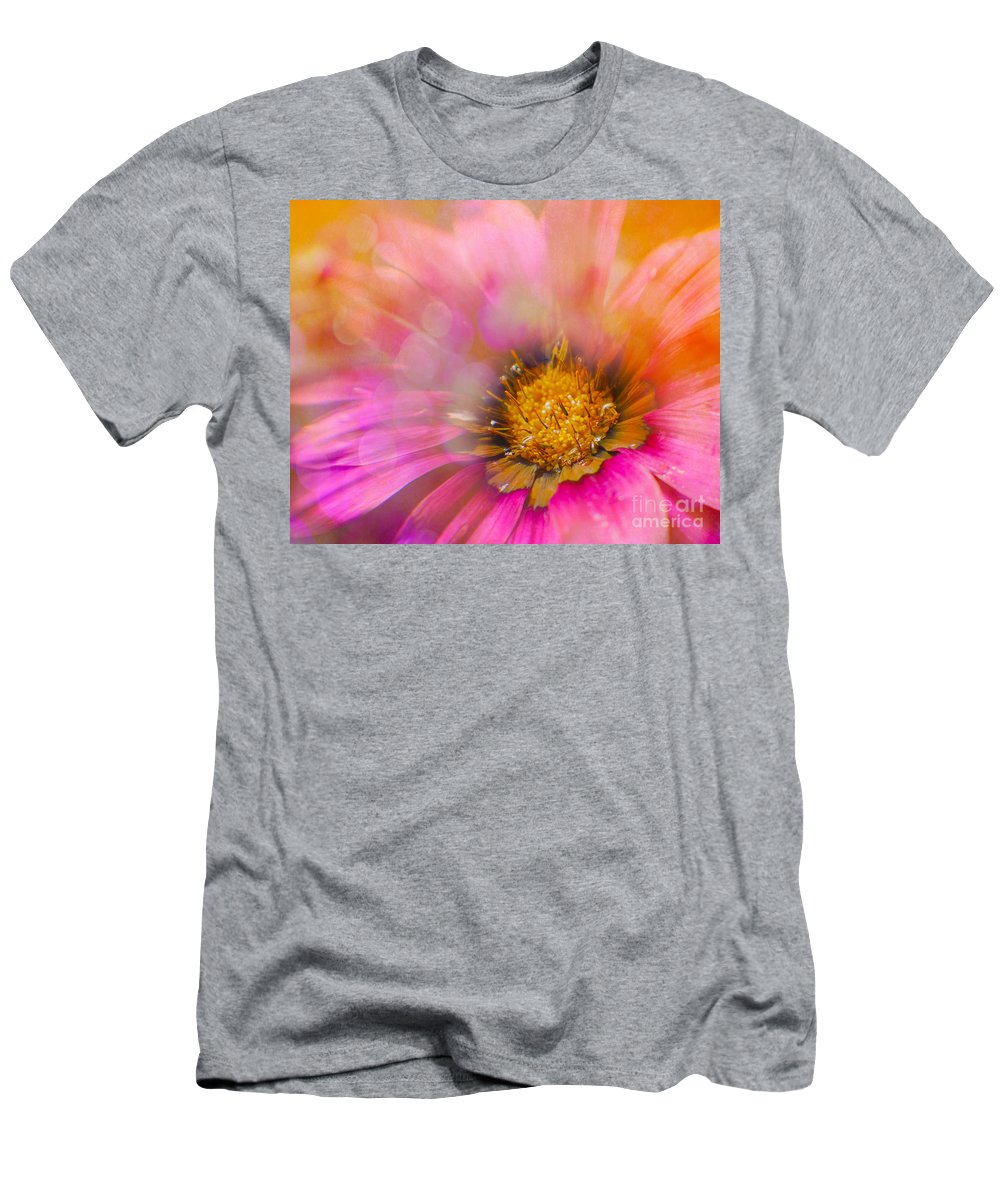 Gazania Men's T-Shirt (Athletic Fit) featuring the photograph Bursting by Judi Bagwell
