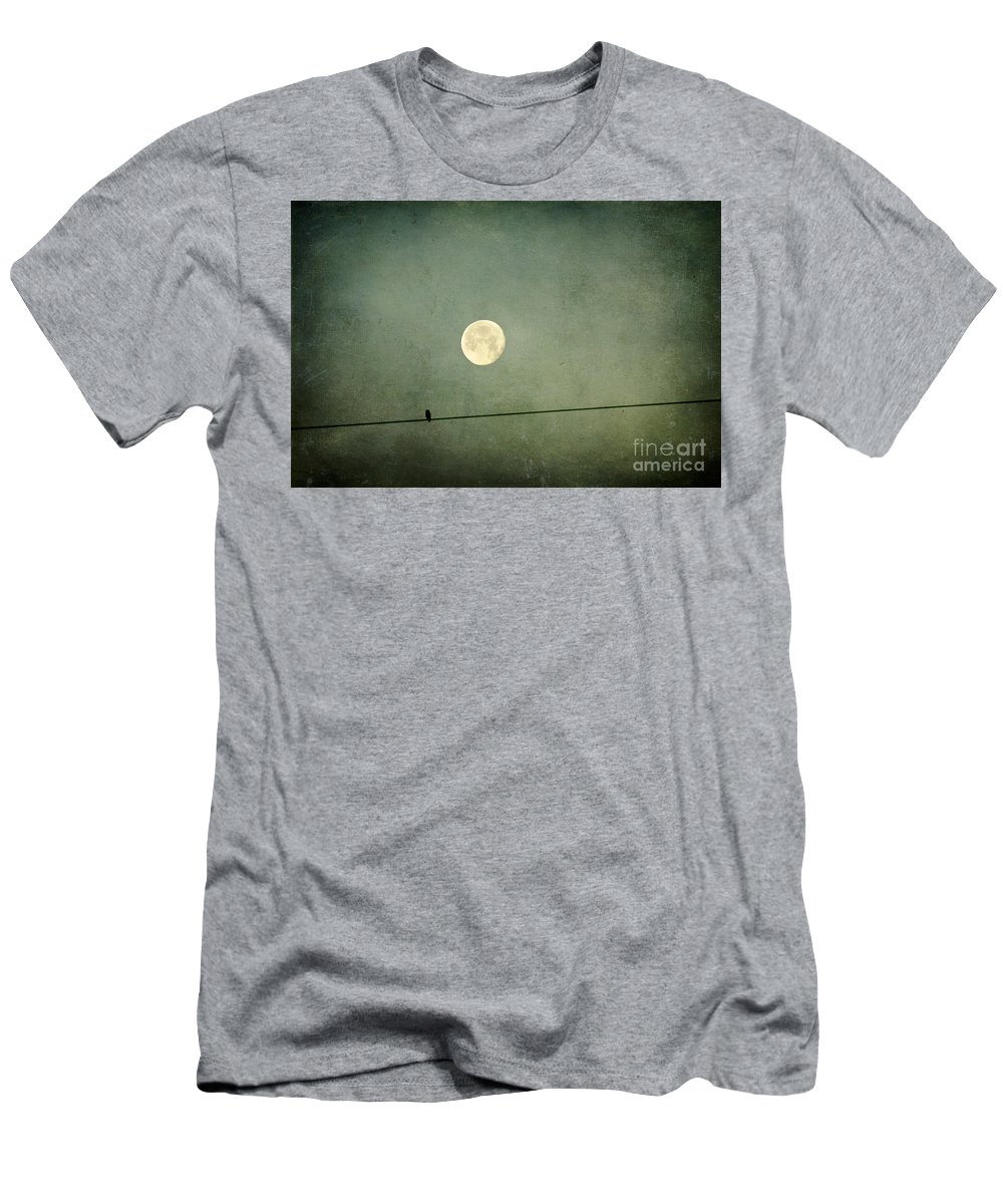 Moon Men's T-Shirt (Athletic Fit) featuring the photograph By The Light Of The Moon by Joan McCool