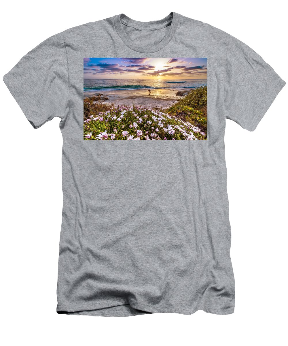 Windansea Men's T-Shirt (Athletic Fit) featuring the photograph California Dreamin' by Justin Lowery
