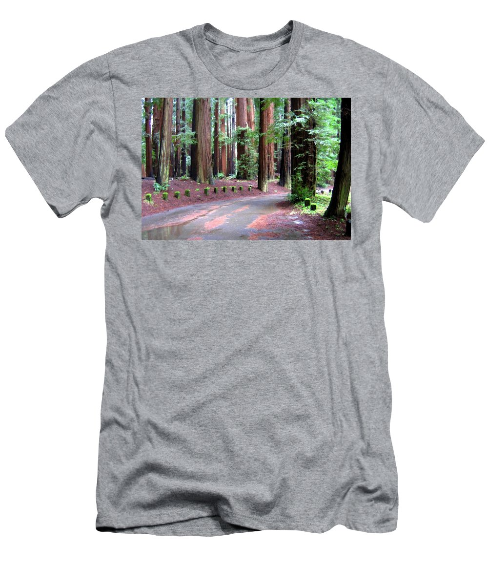 California Redwoods 3 Men's T-Shirt (Athletic Fit) featuring the digital art California Redwoods 3 by Will Borden