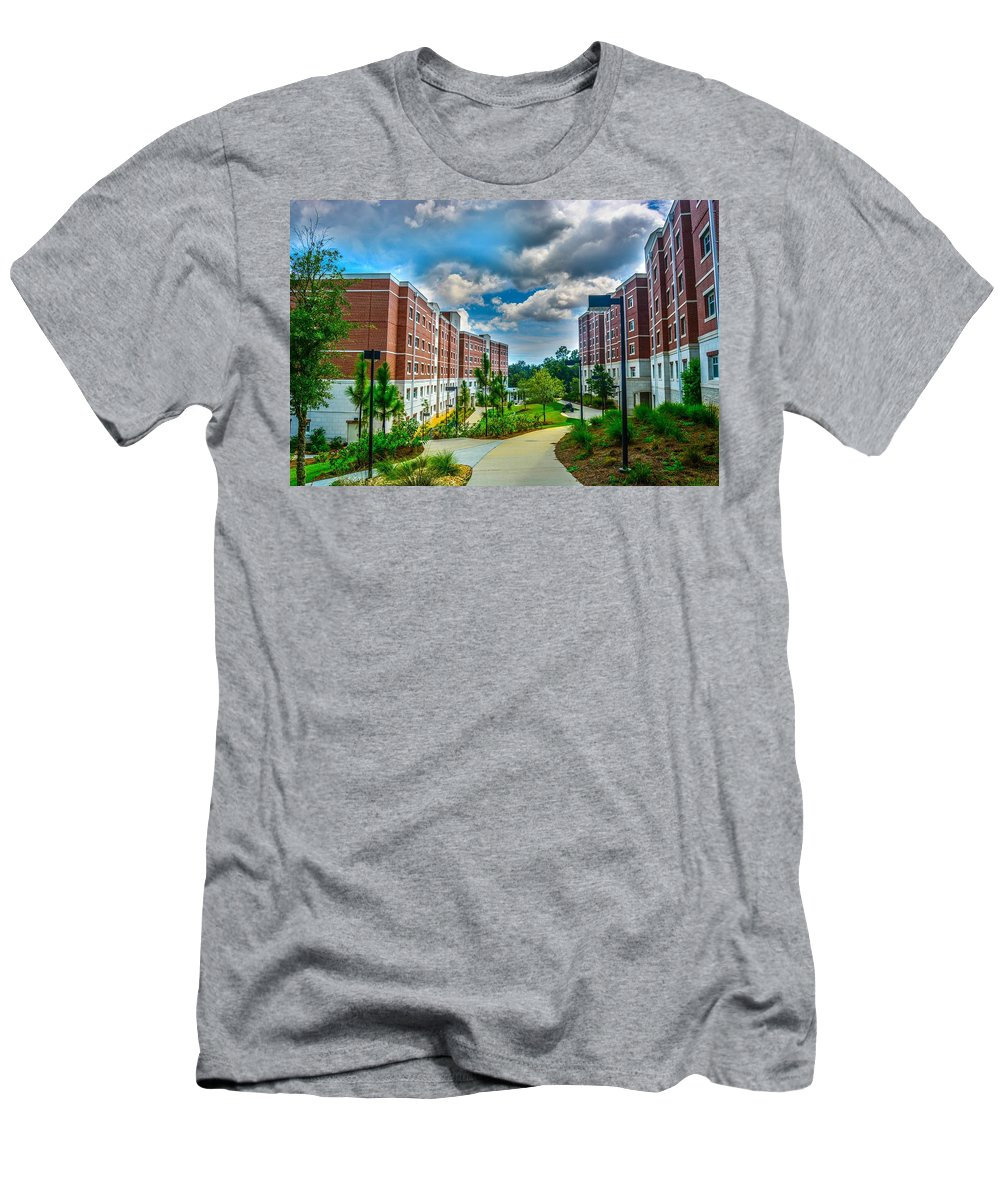 Uwf Men's T-Shirt (Athletic Fit) featuring the photograph Campus Life by Jon Cody