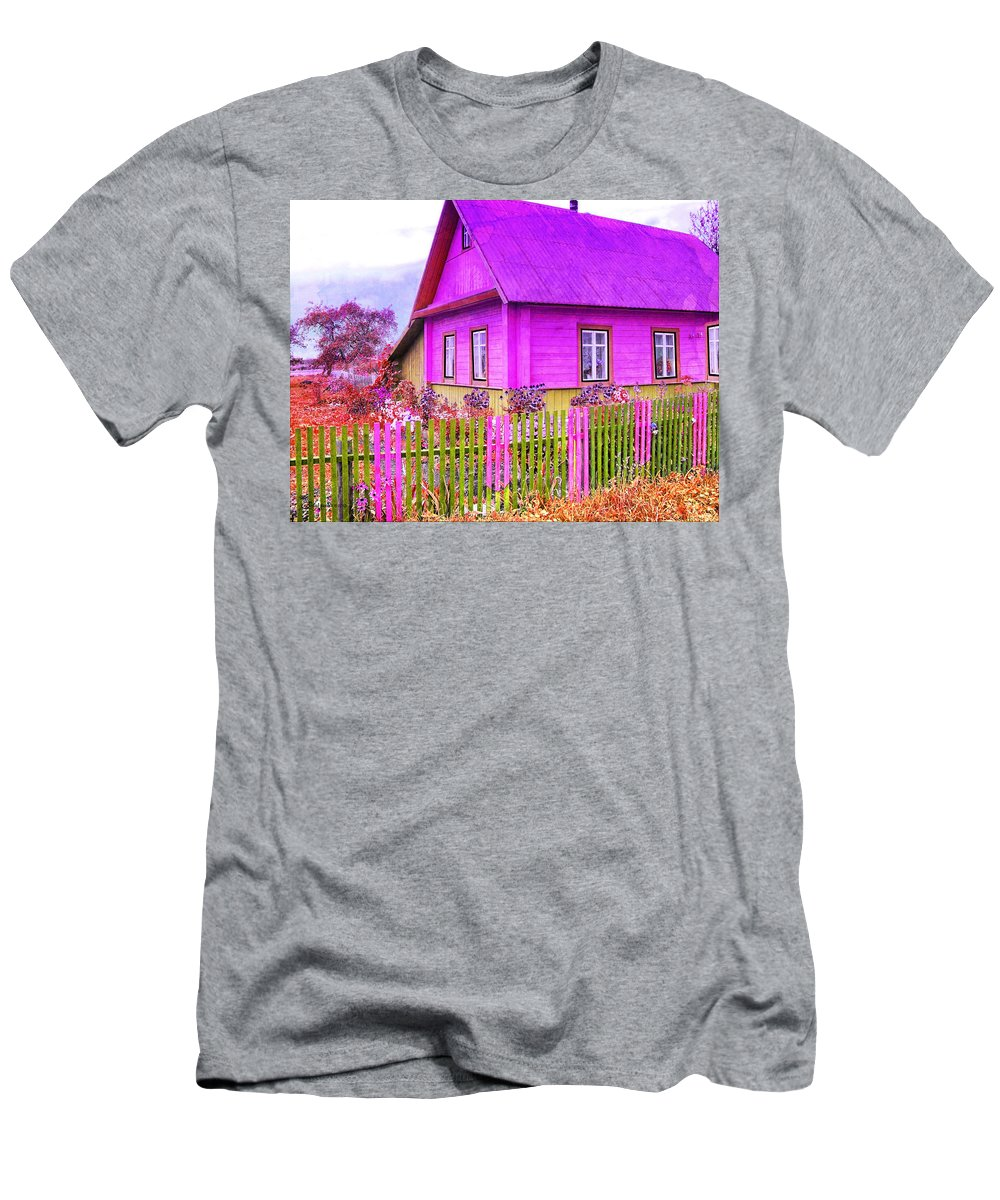 Cottage Men's T-Shirt (Athletic Fit) featuring the photograph Candy Cottage - Featured In Comfortable Art Group by Ericamaxine Price