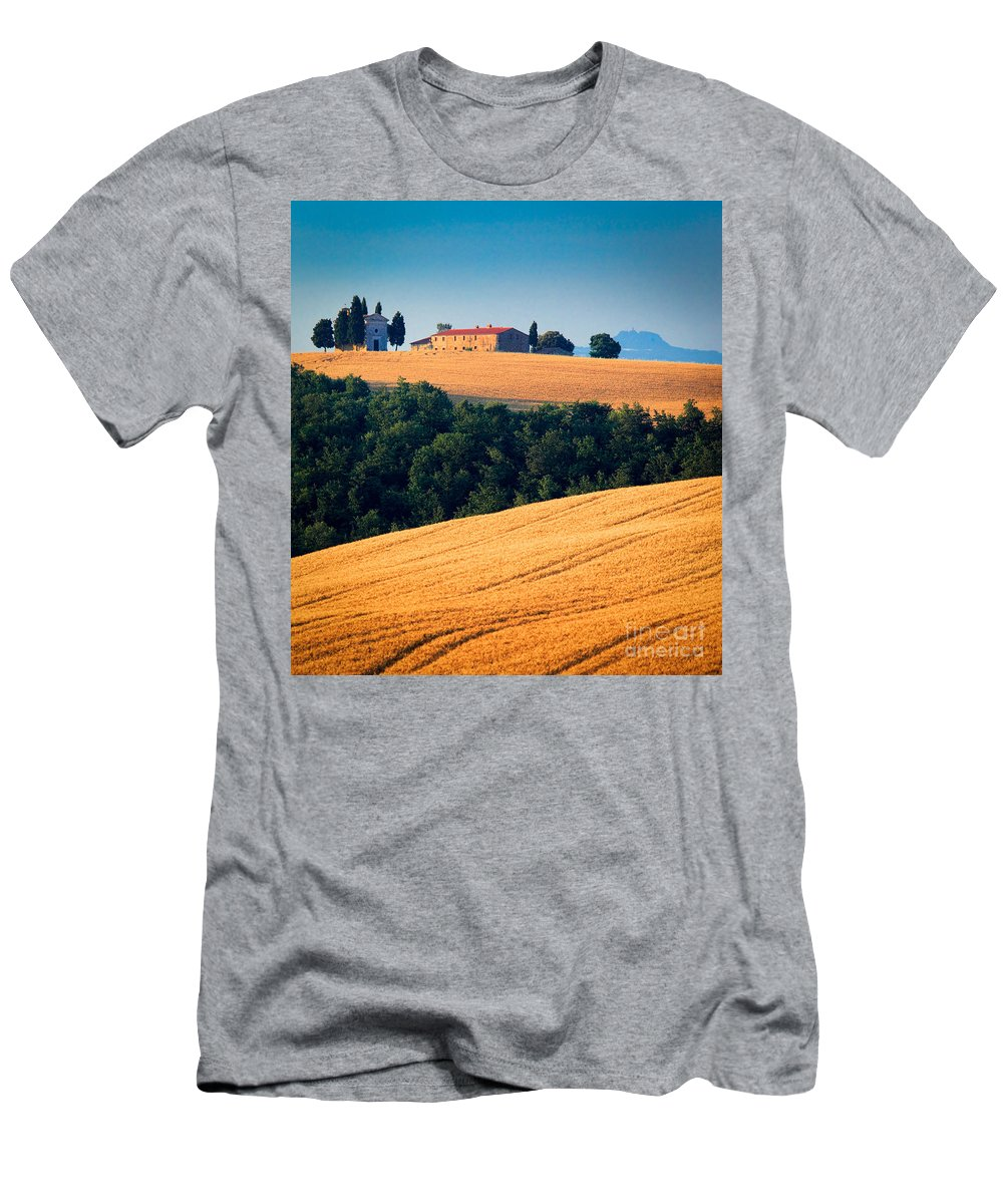 Europe Men's T-Shirt (Athletic Fit) featuring the photograph Capella Di Vitaleta by Inge Johnsson
