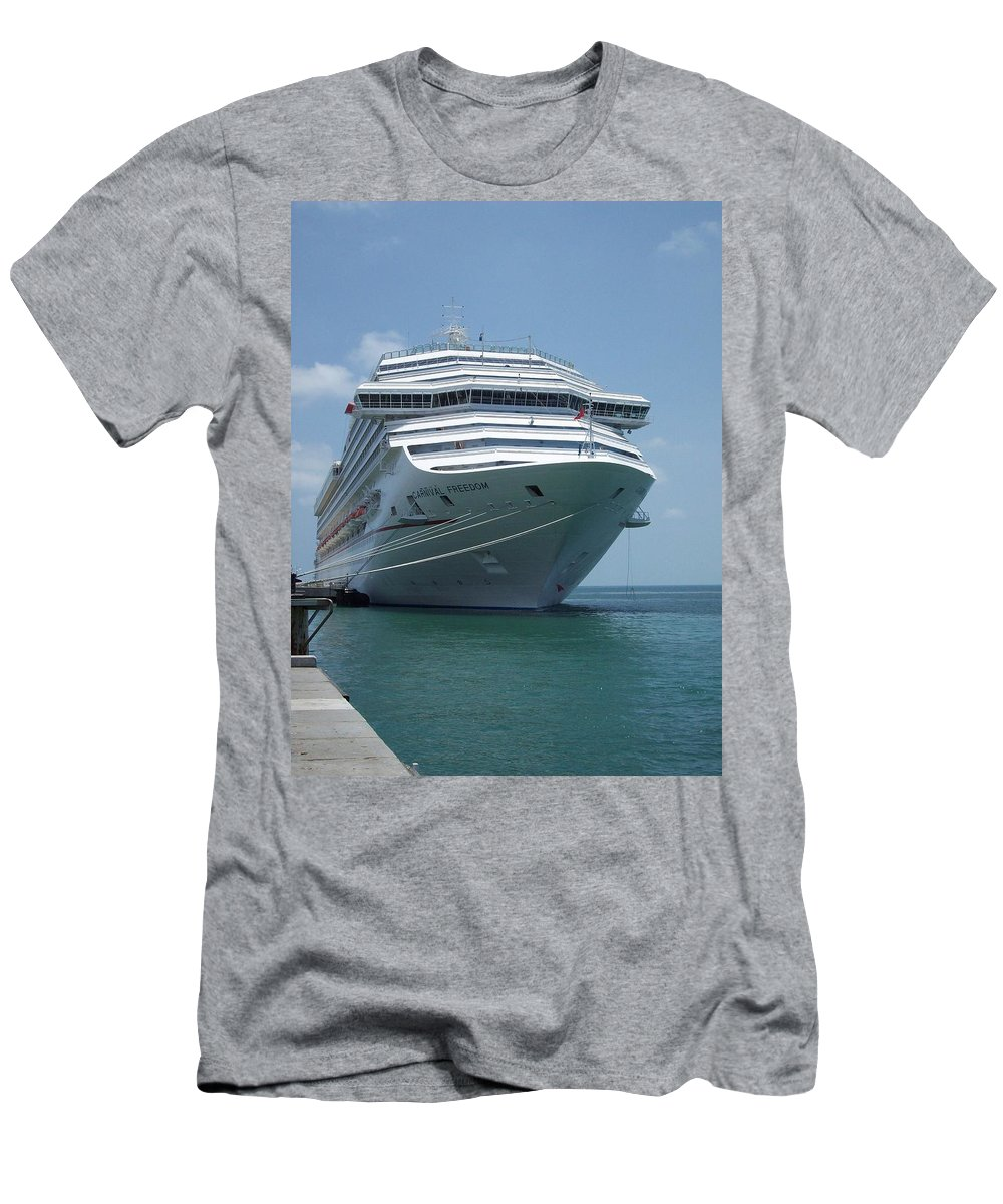 Carnival Men's T-Shirt (Athletic Fit) featuring the photograph Carnival Freedom Bow by Richard Booth