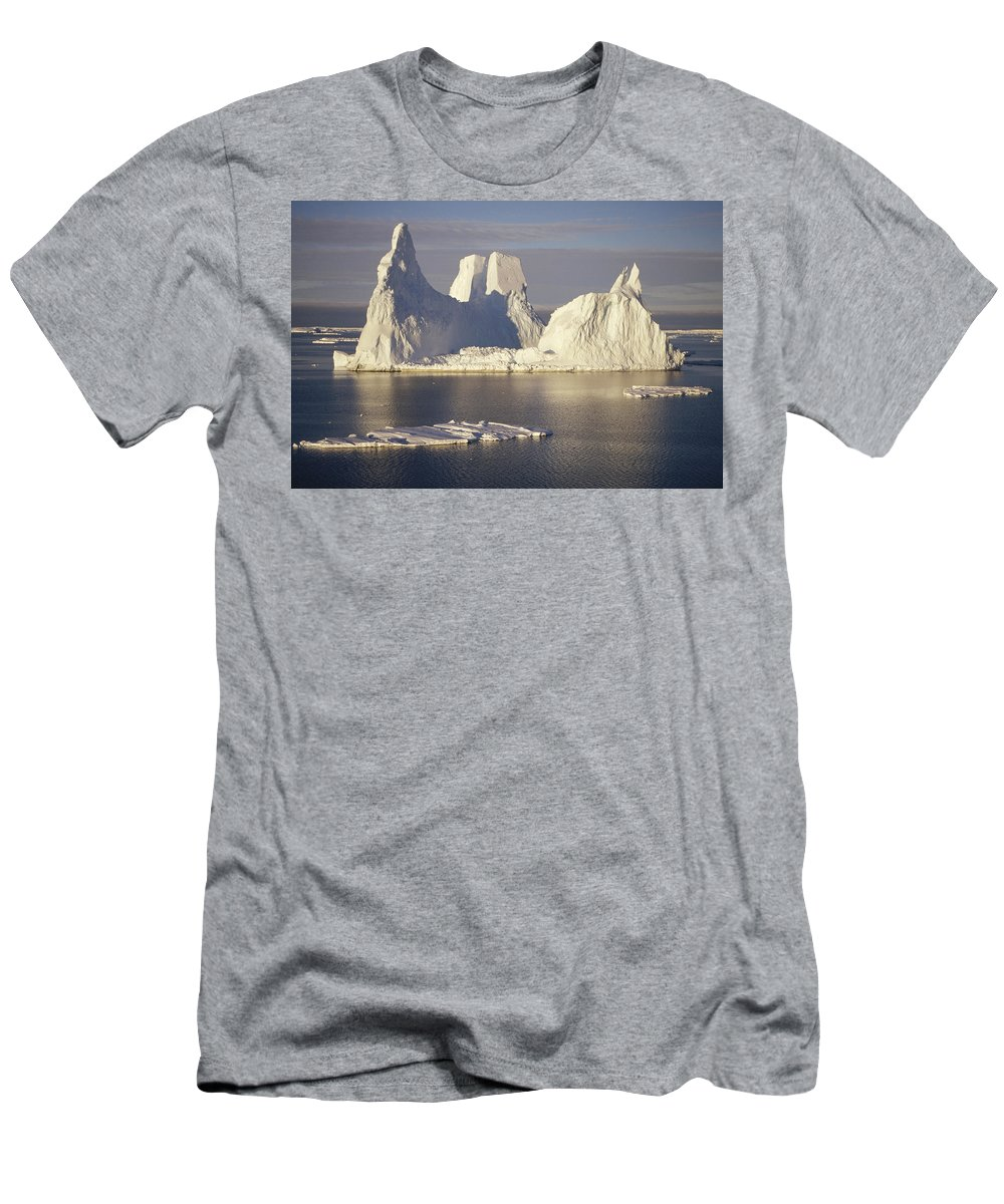 Feb0514 Men's T-Shirt (Athletic Fit) featuring the photograph Castellated Iceberg East Antarctica by Tui De Roy