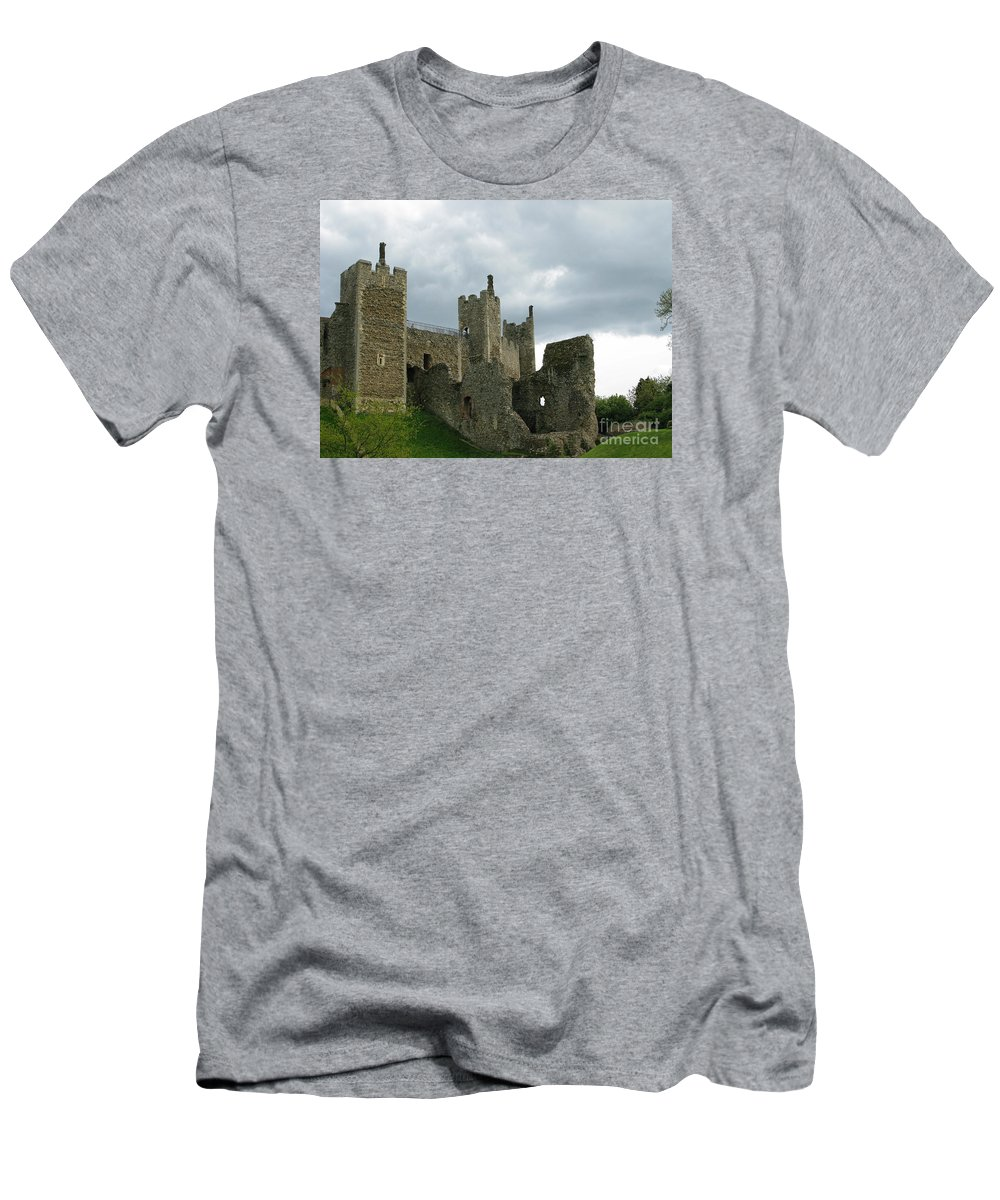 Castle Men's T-Shirt (Athletic Fit) featuring the photograph Castle Curtain Wall by Ann Horn