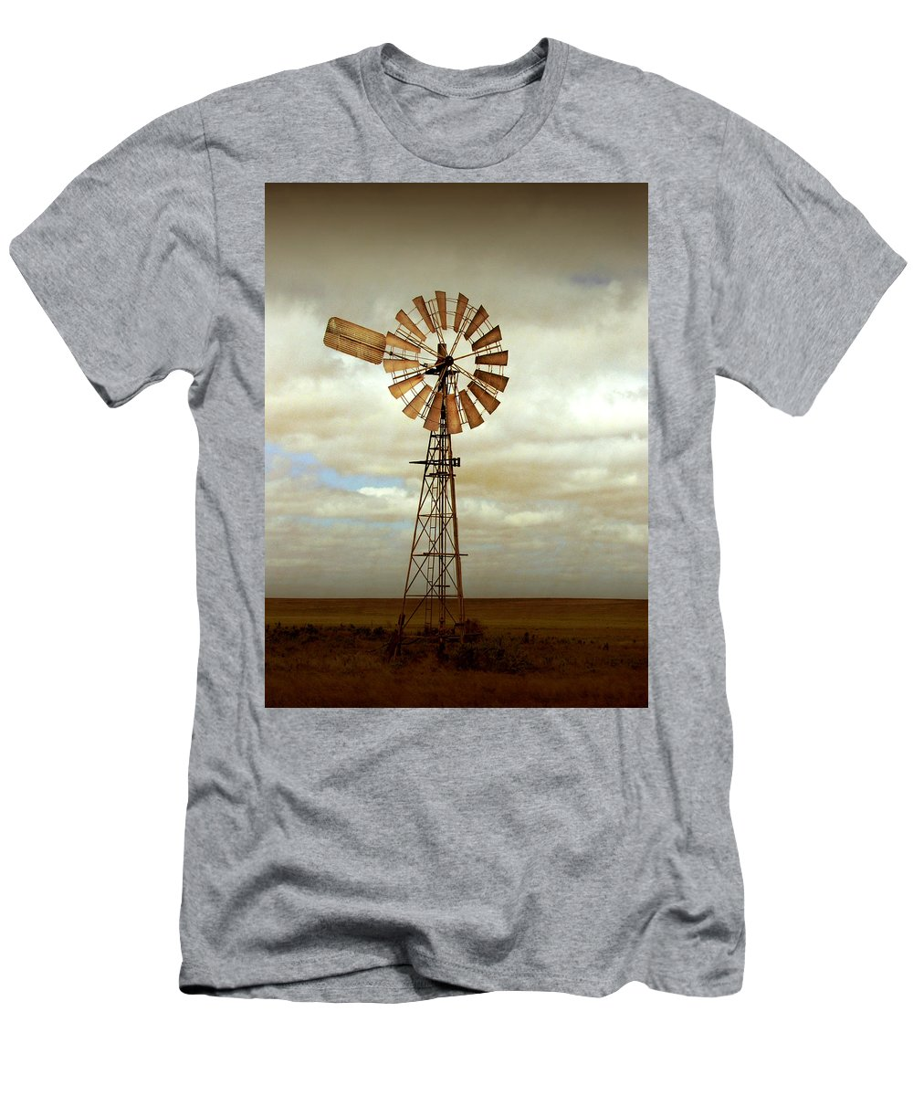 Windmill Men's T-Shirt (Athletic Fit) featuring the photograph Catch The Wind by Holly Kempe