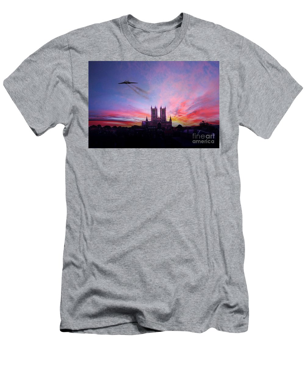 Vulcan Men's T-Shirt (Athletic Fit) featuring the digital art Cathedral Pass by J Biggadike