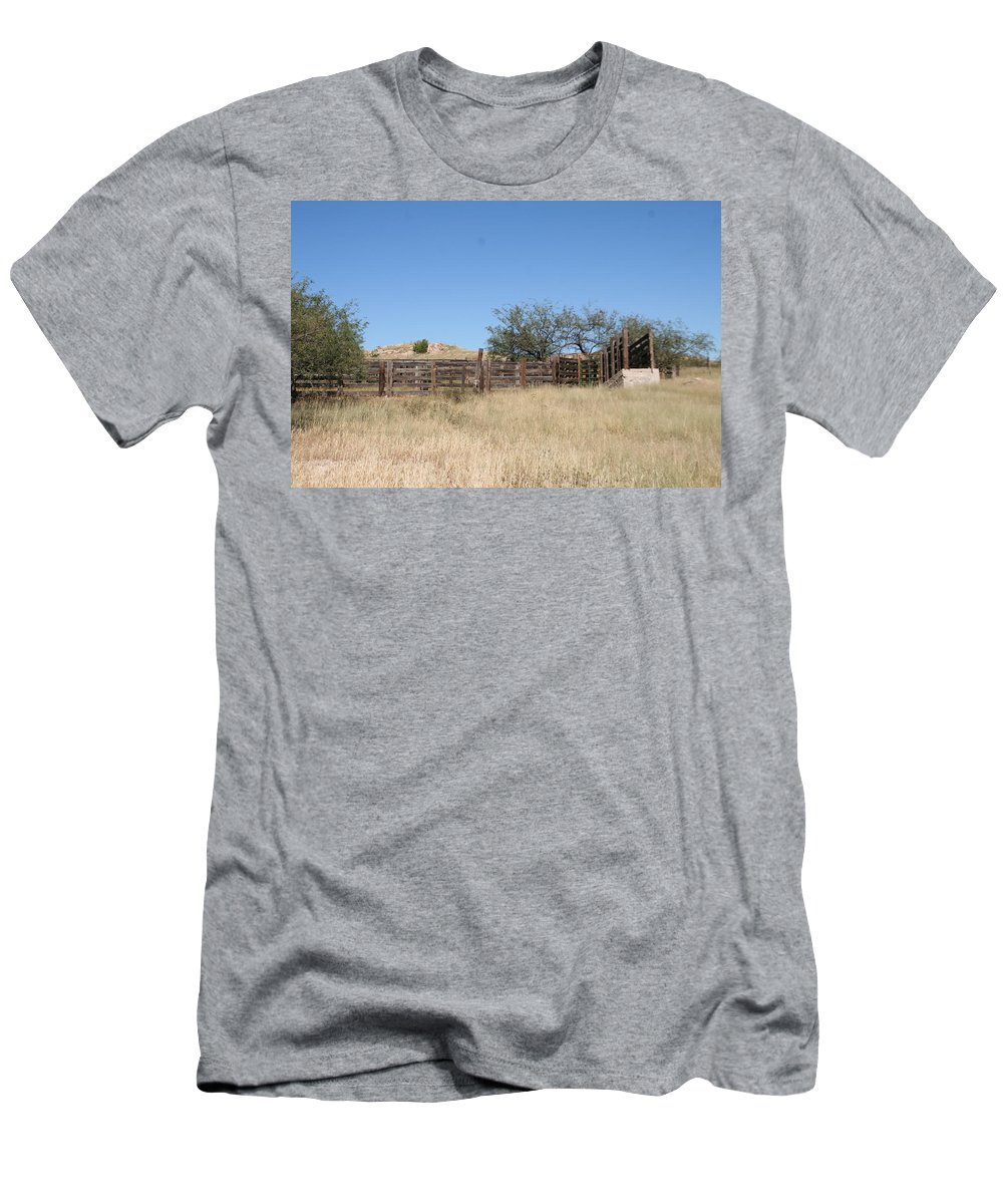 Ranching Men's T-Shirt (Athletic Fit) featuring the photograph Cattle Pen by David S Reynolds