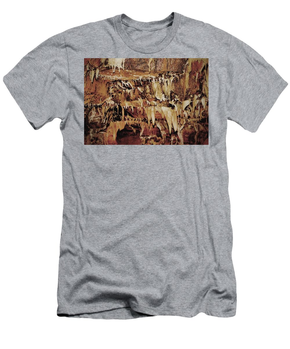 Caverns Men's T-Shirt (Athletic Fit) featuring the photograph Cavern Beauty by Dan Sproul