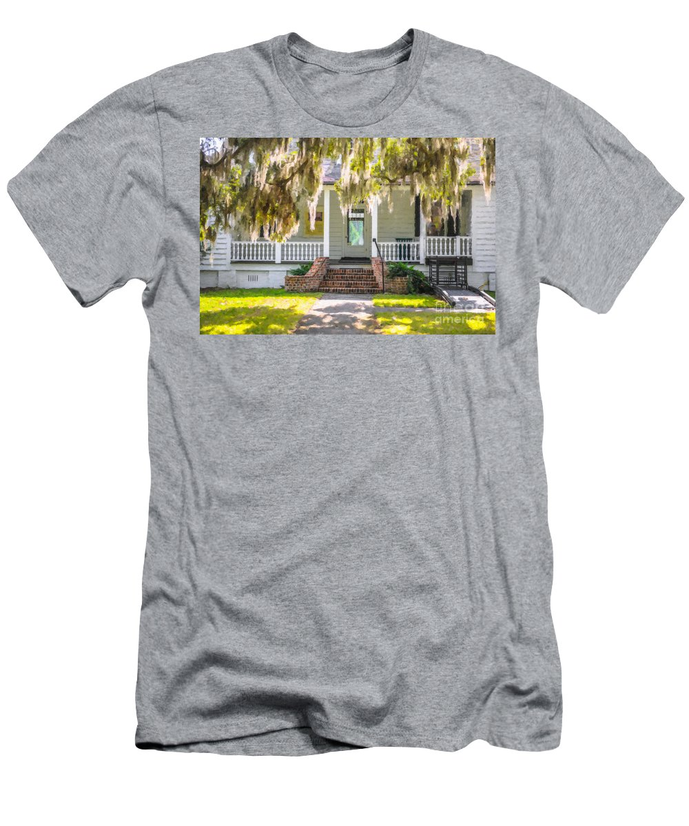 Charles Pinckney Men's T-Shirt (Athletic Fit) featuring the photograph Charles Pickney Historic Site by Dale Powell