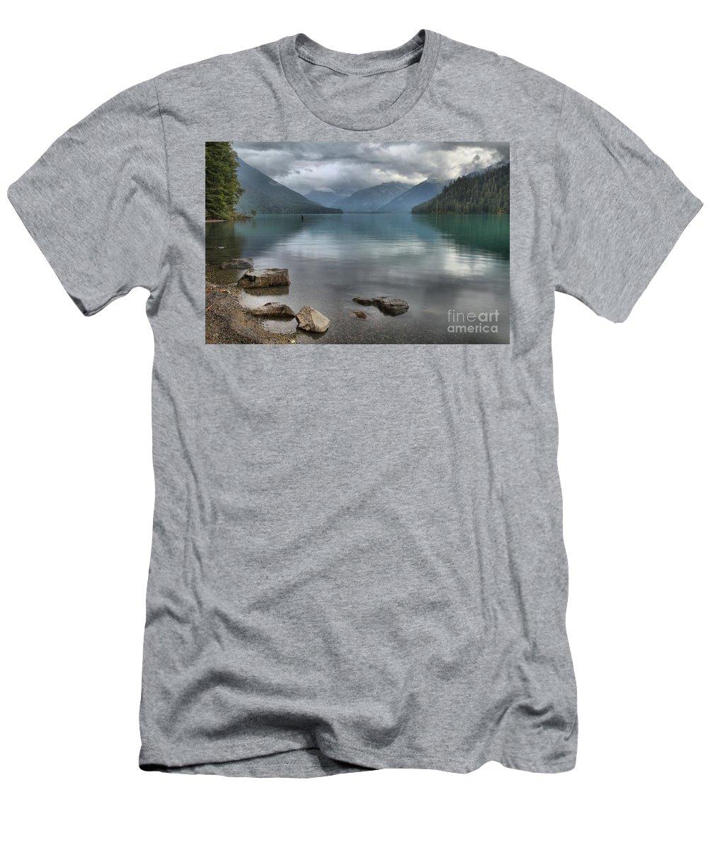 Cheakamus Lake Men's T-Shirt (Athletic Fit) featuring the photograph Cheakamus Lake - Squamish British Columbia by Adam Jewell