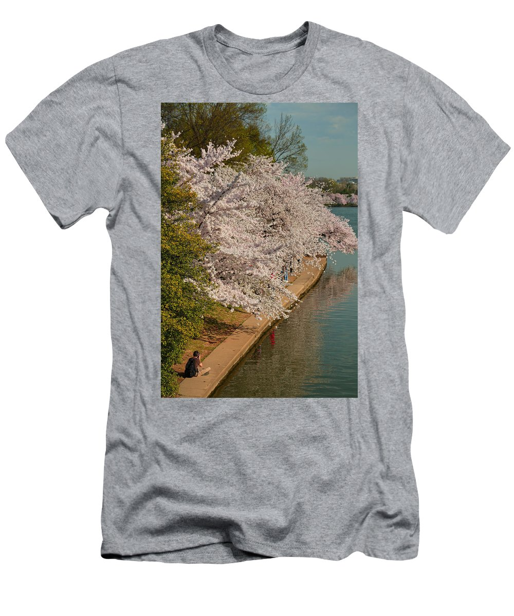 Architectural Men's T-Shirt (Athletic Fit) featuring the photograph Cherry Blossoms 2013 - 053 by Metro DC Photography