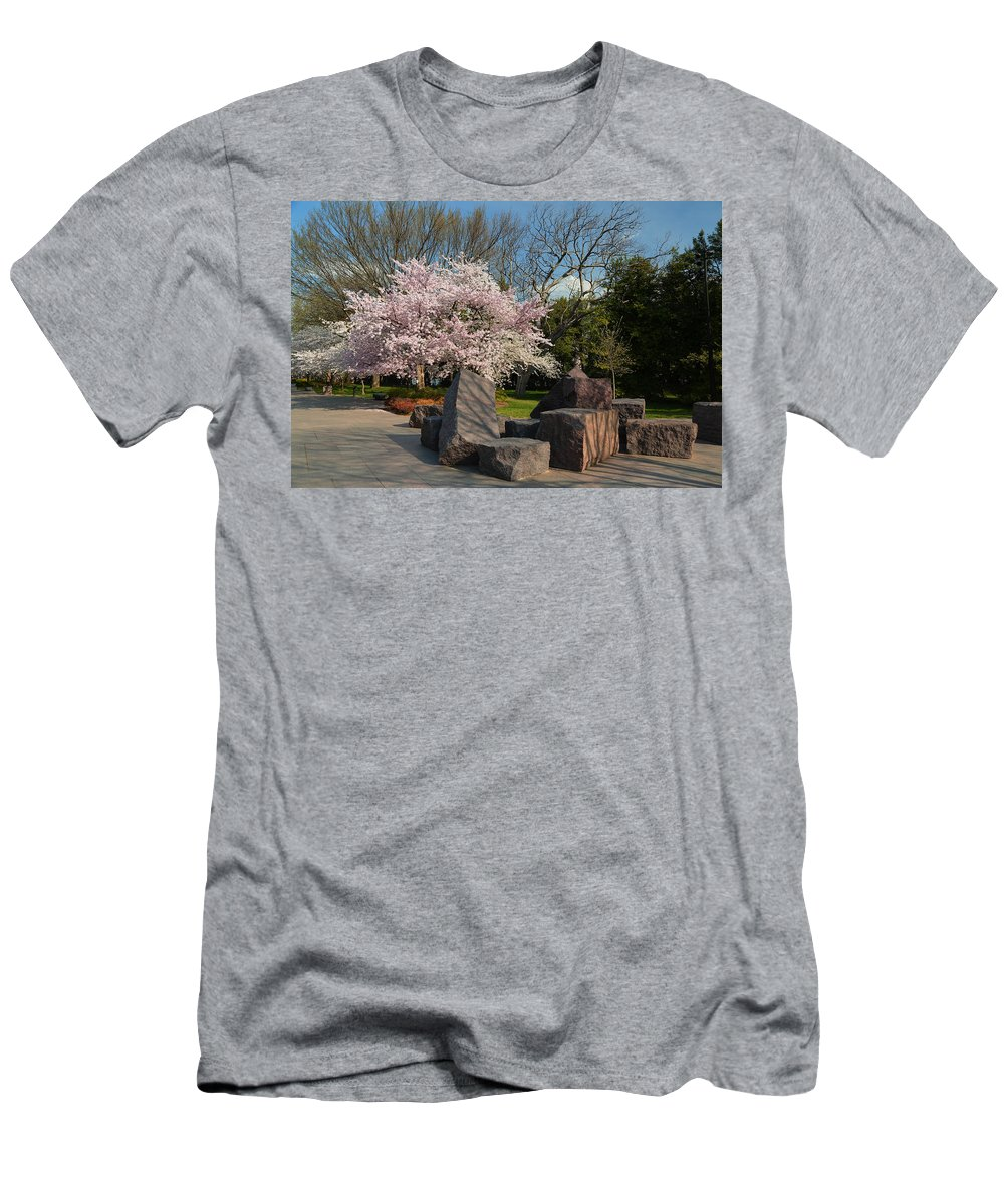 Architectural Men's T-Shirt (Athletic Fit) featuring the photograph Cherry Blossoms 2013 - 058 by Metro DC Photography