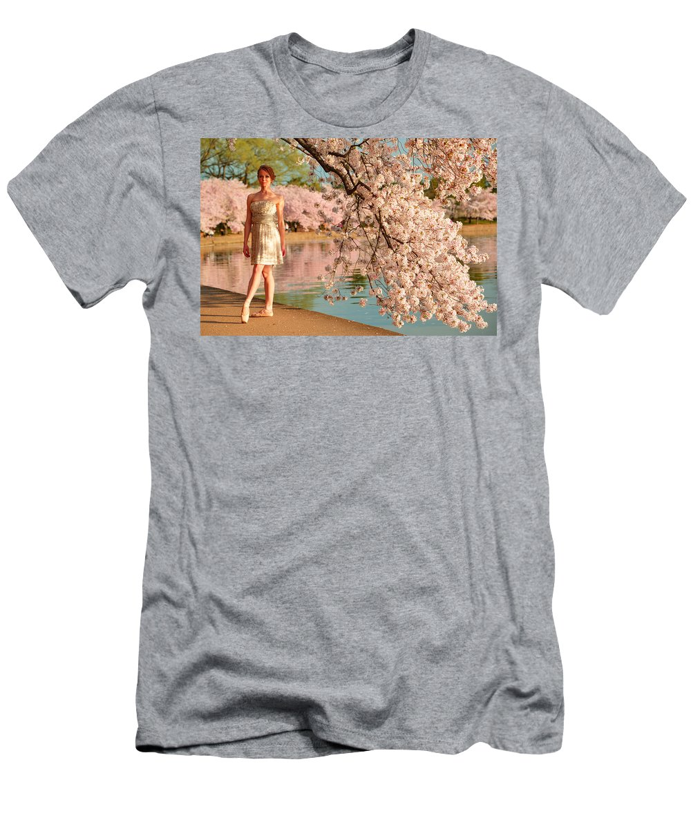 Architectural Men's T-Shirt (Athletic Fit) featuring the photograph Cherry Blossoms 2013 - 080 by Metro DC Photography