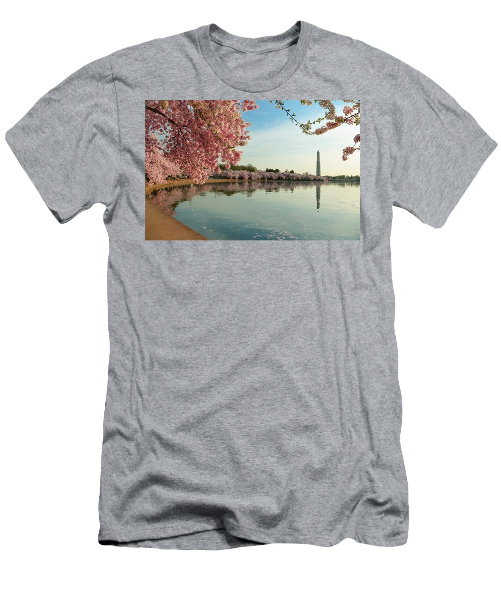 Architectural Men's T-Shirt (Athletic Fit) featuring the photograph Cherry Blossoms 2013 - 084 by Metro DC Photography
