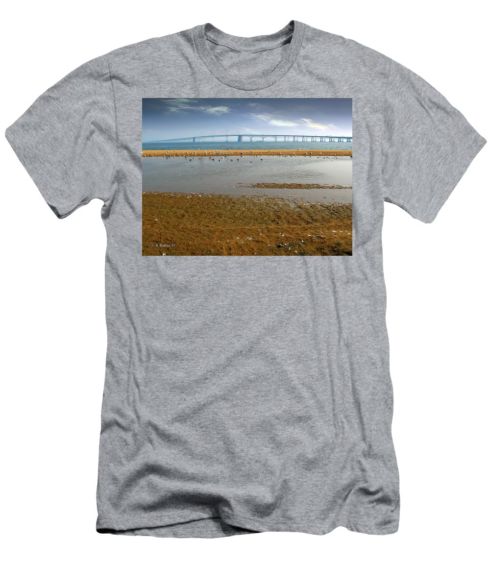 2d Men's T-Shirt (Athletic Fit) featuring the photograph Chesapeake Bay Bridge by Brian Wallace