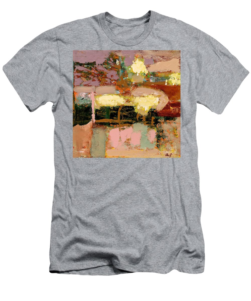 Landscape Men's T-Shirt (Athletic Fit) featuring the painting Chopped Liver by Allan P Friedlander