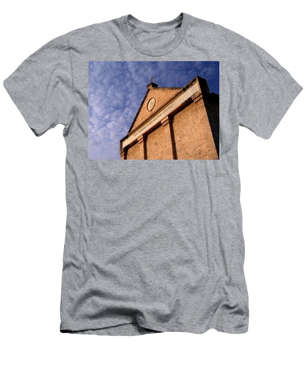 Church Of The Apostle Nathanael Bartholomew Men's T-Shirt (Athletic Fit) featuring the photograph Church Of The Apostle Nathanael Bartholomew In Cana by David T Wilkinson
