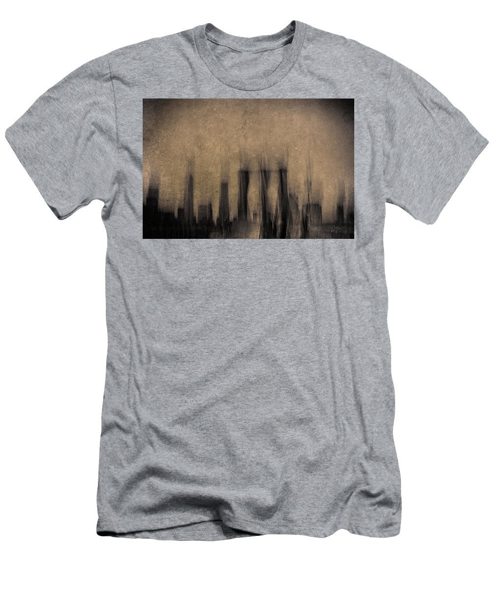 New York Men's T-Shirt (Athletic Fit) featuring the photograph City Visions by Eric Ferrar