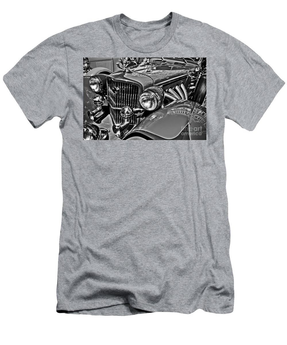 Concorde Men's T-Shirt (Athletic Fit) featuring the photograph Classic Car Detail by Carlos Alkmin