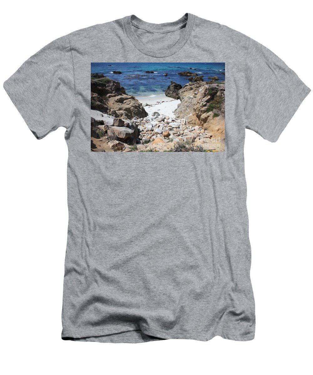 Landscape Men's T-Shirt (Athletic Fit) featuring the photograph Clear California Cove by Carol Groenen