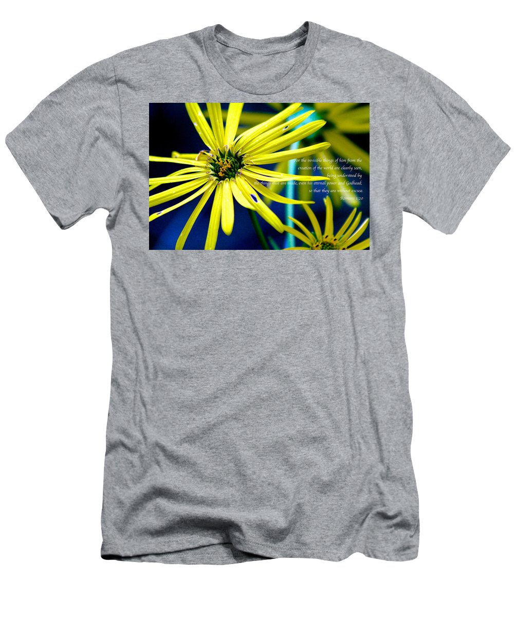 Flower Men's T-Shirt (Athletic Fit) featuring the photograph Clearly Seen by Debbie Nobile
