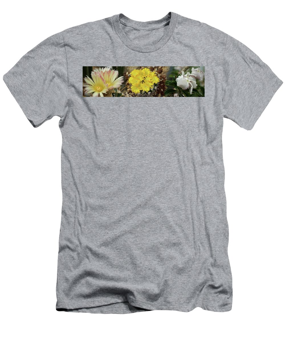Photography Men's T-Shirt (Athletic Fit) featuring the photograph Close-up Of Wildflowers by Panoramic Images