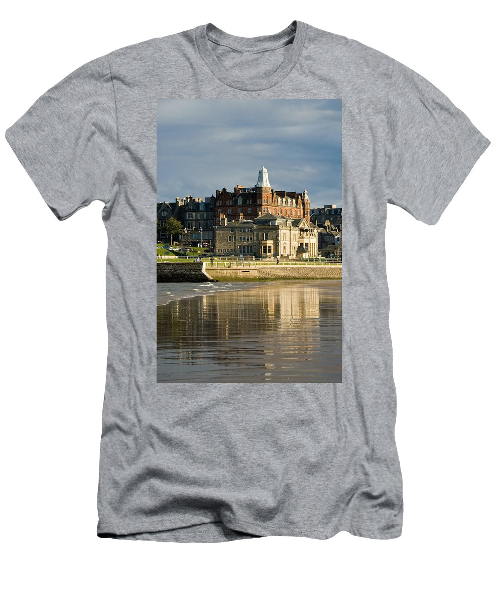 St. Andrews Men's T-Shirt (Athletic Fit) featuring the photograph Club House St Andrews by Jeremy Voisey