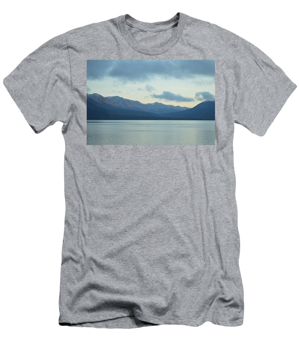 Coast Ranges Men's T-Shirt (Athletic Fit) featuring the photograph Coast Ranges In Alaska by Richard Booth