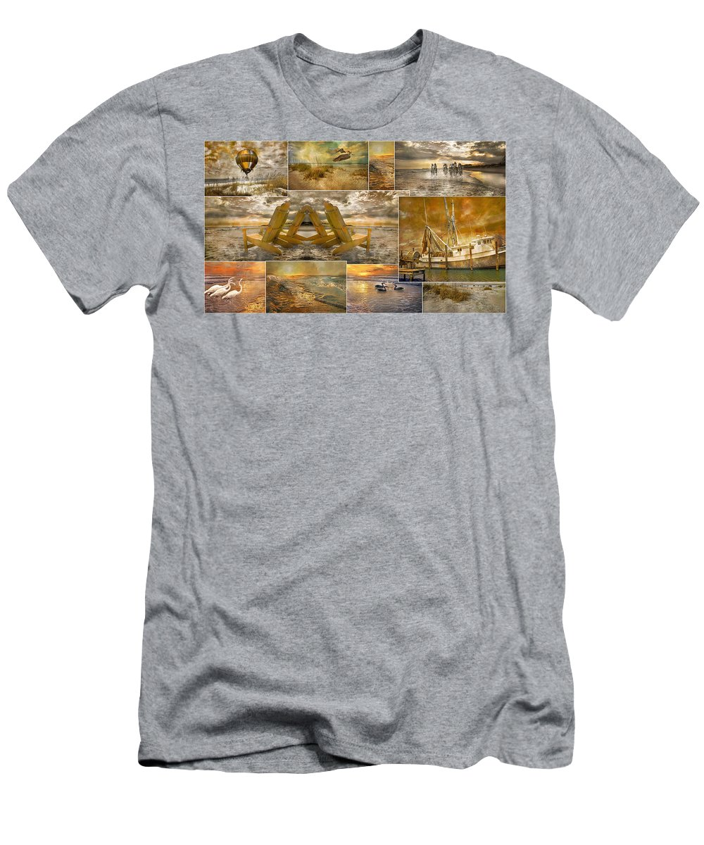 Topsail Men's T-Shirt (Athletic Fit) featuring the photograph Coastal Connections by Betsy Knapp