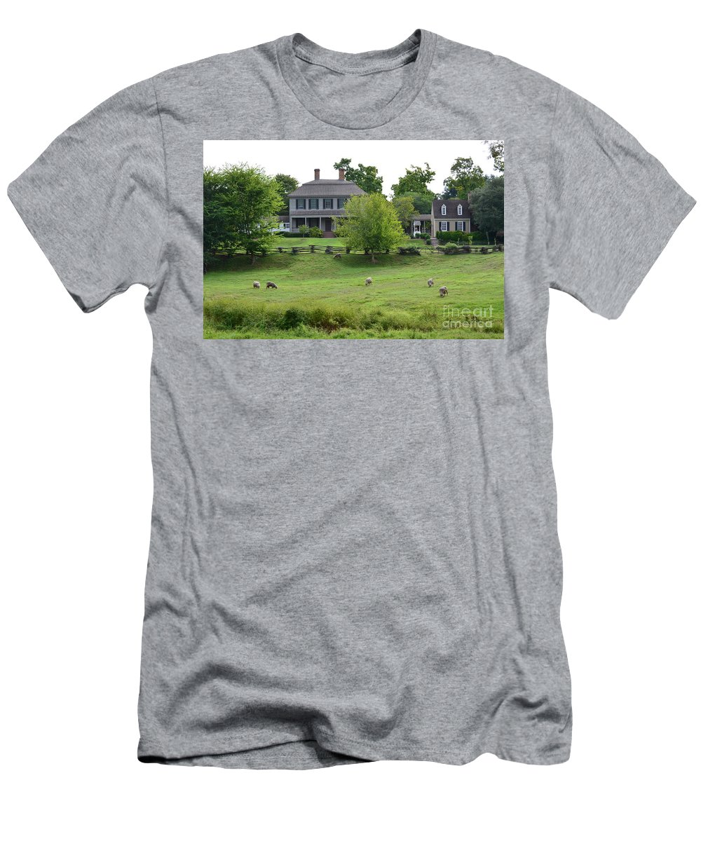 Williamsburg T-Shirt featuring the photograph Colonial Williamsburg Homestead by DejaVu Designs