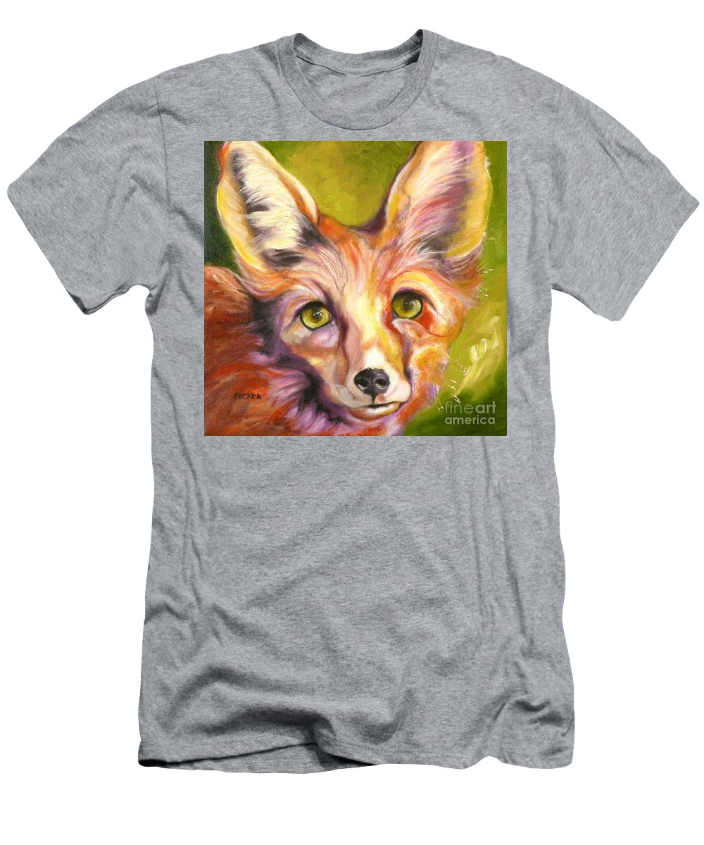 Oil Painting Men's T-Shirt (Athletic Fit) featuring the painting Colorado Fox by Susan A Becker
