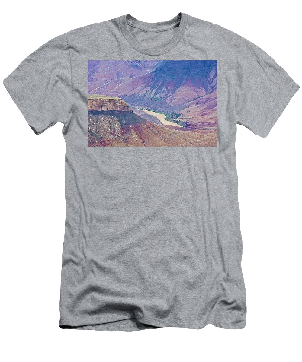 Colorado River At Cape Royal On North Rim/grand Canyon National Park Men's T-Shirt (Athletic Fit) featuring the photograph Colorado River At Cape Royal On North Rim Of Grand Canyon-arizona by Ruth Hager