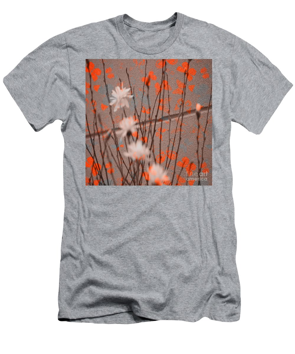 Butterfly Men's T-Shirt (Athletic Fit) featuring the photograph Contemporary Art - Butterfly Kisses - Luther Fine Art by Luther Fine Art