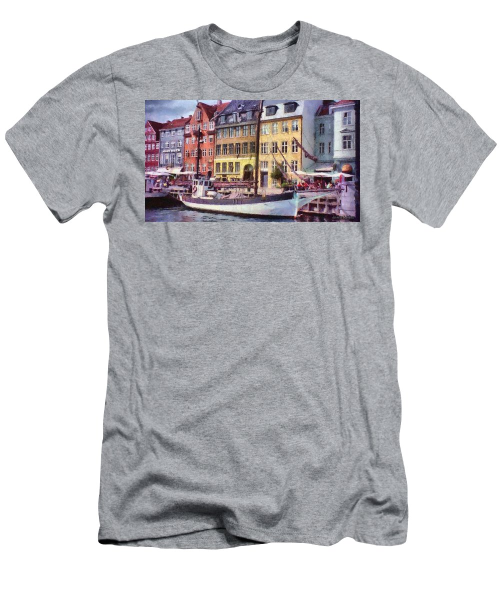 Scandinavia Men's T-Shirt (Athletic Fit) featuring the painting Copenhagen by Jeffrey Kolker
