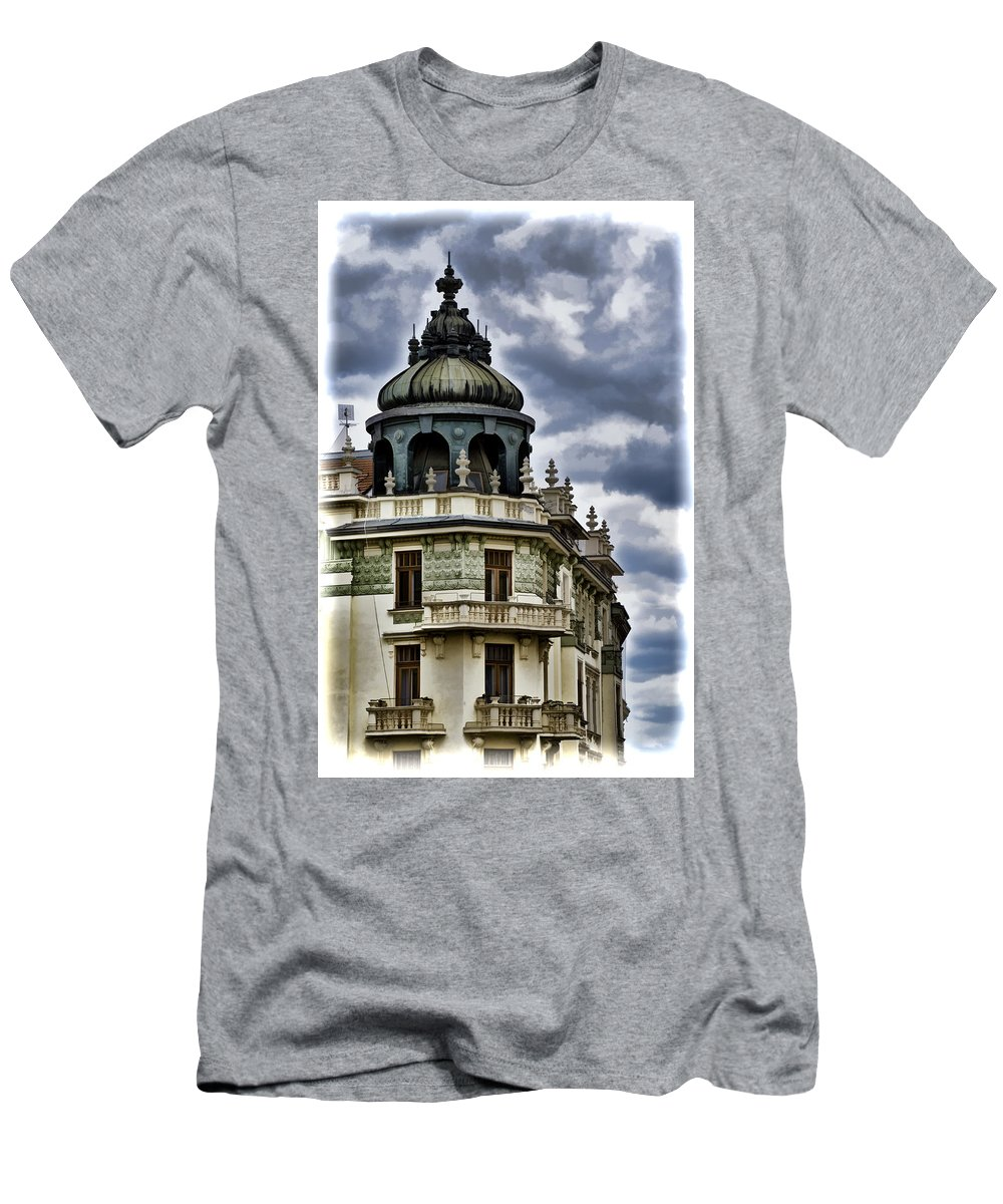 Bratislava Men's T-Shirt (Athletic Fit) featuring the photograph Corner View by Jon Berghoff