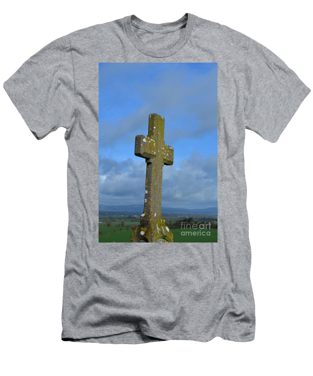 Cross T-Shirt featuring the photograph Cross At Cashel by DejaVu Designs