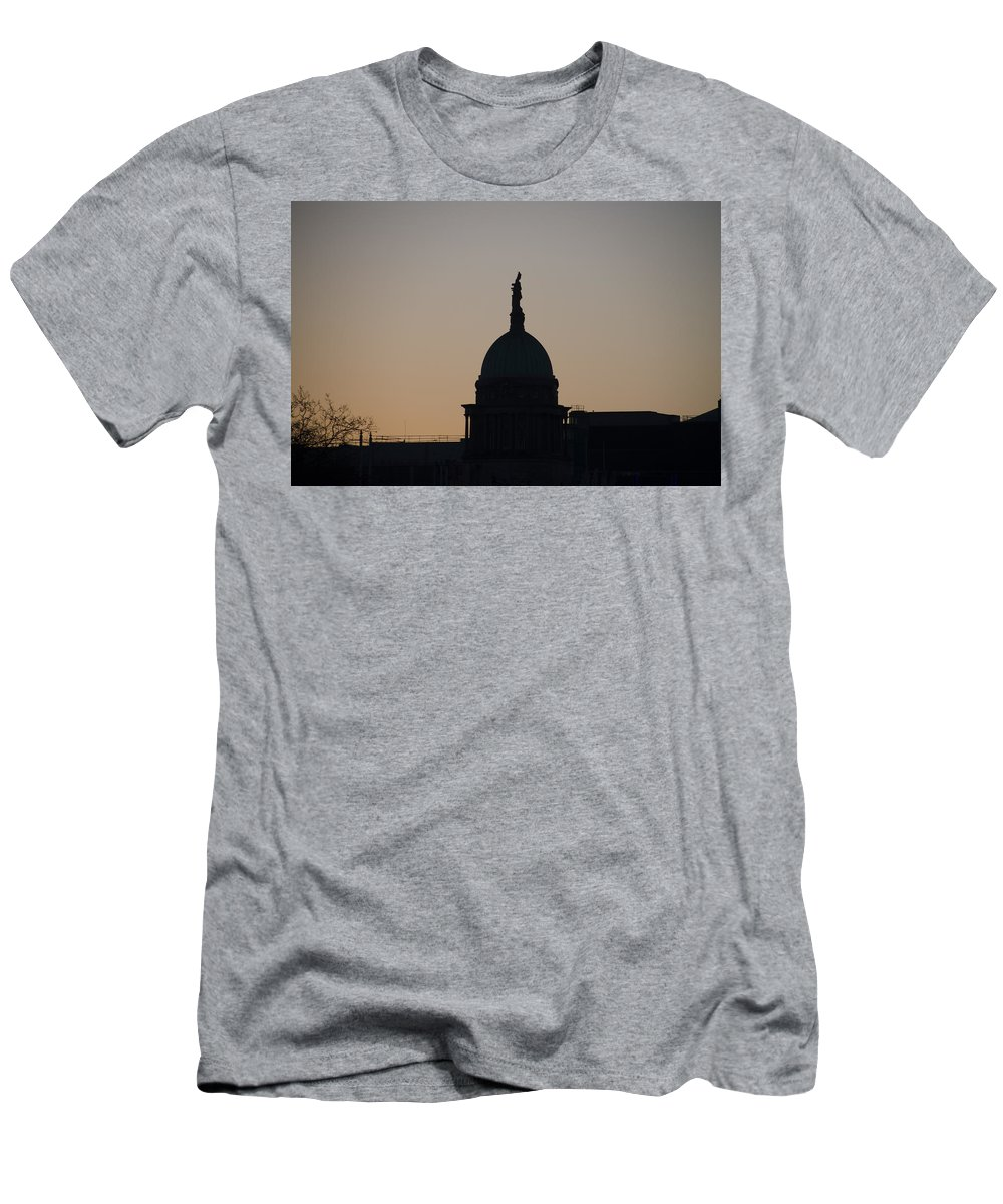 Custom Men's T-Shirt (Athletic Fit) featuring the photograph Custom House At Dawn - Dublin Ireland by Bill Cannon