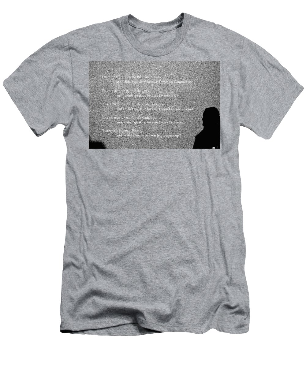 Boston Men's T-Shirt (Athletic Fit) featuring the photograph Cut In Stone by Greg Fortier
