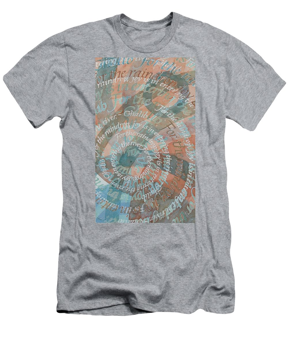 Calligraphy Men's T-Shirt (Athletic Fit) featuring the painting Cycle by Sid Freeman